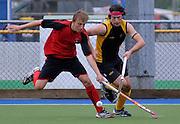 Benjamin Radovonich in action for Canterbury, National Under 21 Hockey Tournament - Day 1, 7 May 2011, Alexander McMillan Hockey Centre Dunedin, New Zealand. Photo: Richard Hood/photosport.co.nz