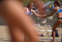 23-08-2019 NED; DELA NK Beach Volleyball Qualification, Scheveningen<br /> First day NK Beachvolleyball / Nadine Everaert, Serena van der Made