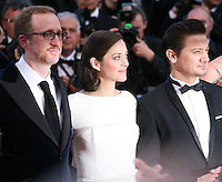James Gray, Marion Cotillard and Jeremy Renner at The Immigrant film gala screening at the Cannes Film Festival Friday 24th May May 2013