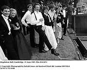 Magdalene Ball, Cambridge. 15 June 1983. film 83414f31<br />