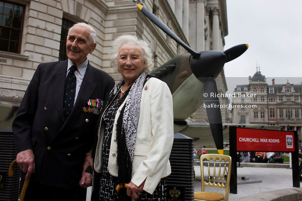 Wartime forces sweetheart Dame Vera Lynn and RAF Spitfire pilot Flt Lt William Walker make an appearance at the 70th anniversary of WW2 Battle of Britain.