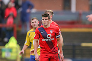 York City midfielder Michael Coulson  during the Sky Bet League 2 match between York City and Accrington Stanley at Bootham Crescent, York, England on 28 November 2015. Photo by Simon Davies.