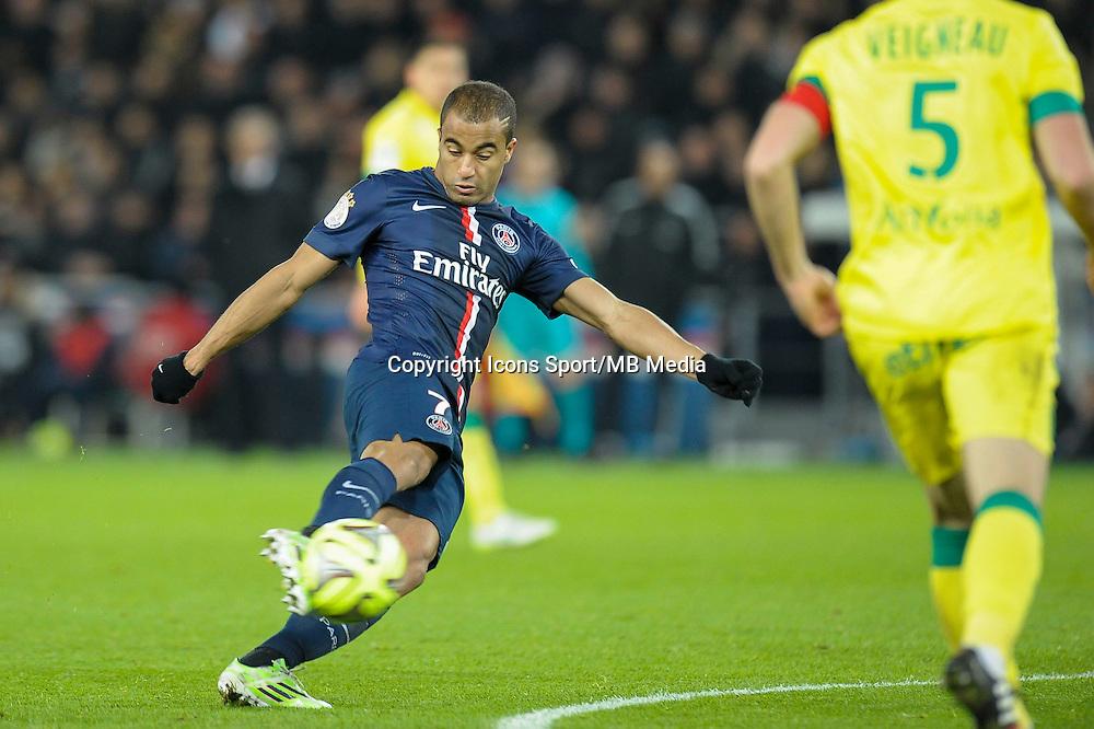 Lucas Moura - 06.12.2014 - PSG / Nantes - 17eme journee de Ligue 1<br />Photo : Andre Ferreira / Icon Sport