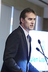 June 14, 2018 - Madrid, Madrid, Spain - Julen Lopetegui during the presentation of Julen Lopetegui as new head coach of Real Madrid F.C. at Santiago Bernabeu Stadium on June 14, 2018 in Madrid, Spain (Credit Image: © Jack Abuin via ZUMA Wire)
