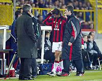 Fotball, 4. november 2003, Champions League,, Club Brugge ( Brügge )-Milan 0-1,  Maldini, Milan
