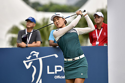 October 26, 2017 - Kuala Lumpur, Malaysia - Minjee Lee of Australia in action during day one of the Sime Darby LPGA Malaysia at TPC Kuala Lumpur on October 26, 2017 in Kuala Lumpur, Malaysia. (Credit Image: © Chris Jung/NurPhoto via ZUMA Press)
