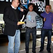 NLD/Bussum/20100122 - Bekendmaking artiesten Nationaal Songfestival 2010, Vinzzent met Grad Damen