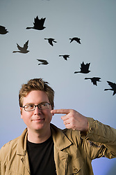 "Isaac ""Biz"" Stone, co-founder and Creative Director of Twitter, Inc  in  their San Francisco, California headquarters.. Photo by Kim Kulish"