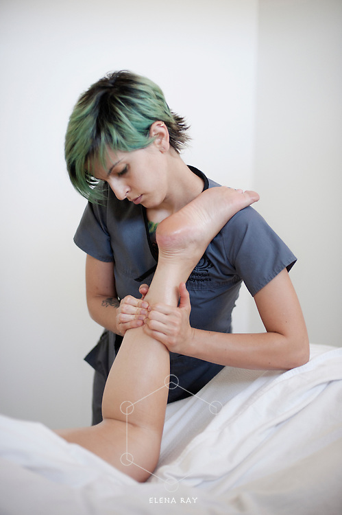 Deep tissue massage therapy.