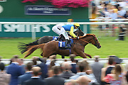 MANCINI (1) ridden by Jamie Spencer and trained by Jonathan Portman winning The John Smiths Stayers Handicap Stakes over 2m (£15,000)during the John Smiths Diamond Cup Meeting at York Racecourse, York, United Kingdom on 13 July 2019.