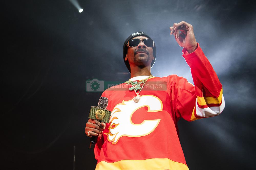 February 22, 2019 - Calgary, Alberta, Canada - Snoop Dogg performs at the Scotiabank Saddledome in Calgary, Alberta. (Credit Image: © Baden Roth/ZUMA Wire)