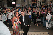 Michelle Heaton and Andy Scott Lee, Cast change for Wicked. Apollo Victoria theatre. After party at Park Plaza Victoria. 12 April 2007.  -DO NOT ARCHIVE-© Copyright Photograph by Dafydd Jones. 248 Clapham Rd. London SW9 0PZ. Tel 0207 820 0771. www.dafjones.com.