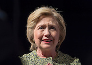 Port Washington, New York, USA. April 11, 2016. HILLARY CLINTON, leading Democratic presidential primary candidate, has a discussion on gun violence prevention with activists who lost family members due to shootings. Clinton, the former Secretary of State and U.S. Senator from New York, called for stronger gun legislation and vowed to take on the NRA National Rifle Association. Clinton had several Long Island events scheduled this day, and the New York presidential primary is April 19.
