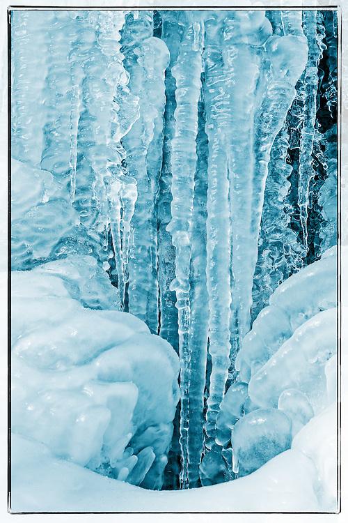 Icy stream, the Talent, Vaud, Switzerland