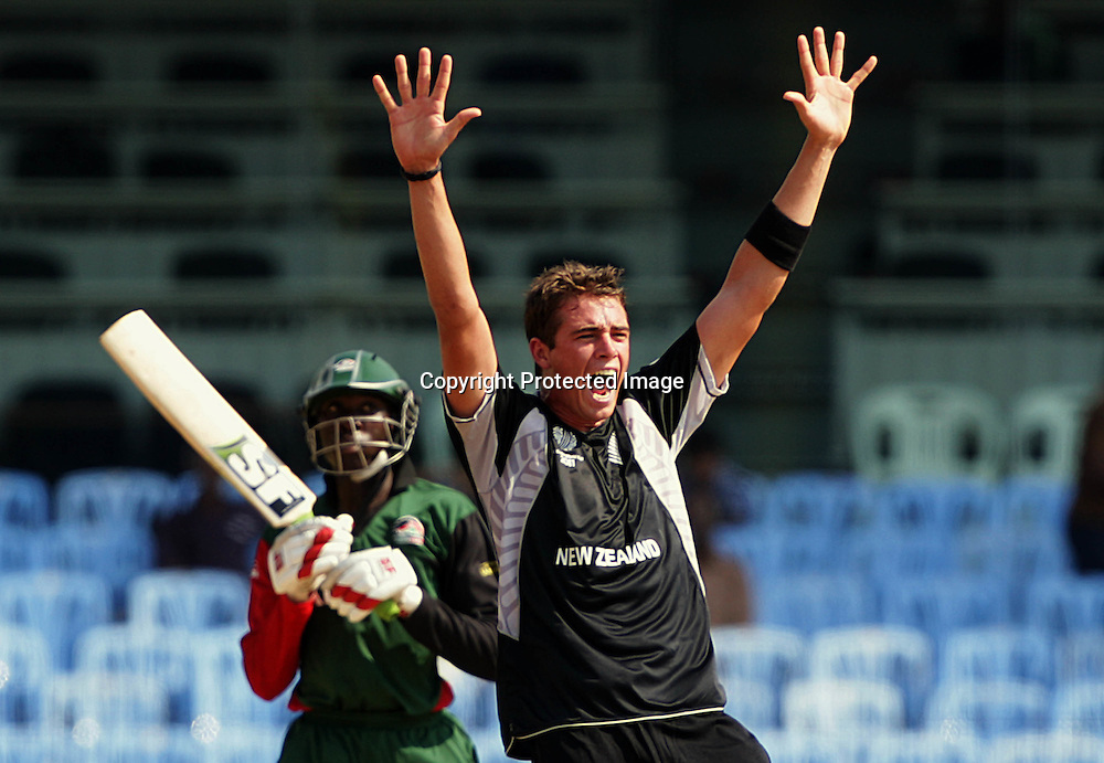 Tim Southee appeals. ICC Cricket World Cup 2011, New Zealand v Kenya at M. A. Chidambaram Stadium, February 20, 2011. Chennai, India. Photo: photosport.co.nz