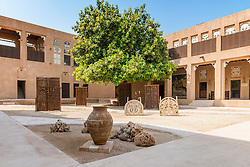 Courtyard at Traditional Architecture Museum in Heritage area at Al Shindagha,Dubai United Arab Emirates