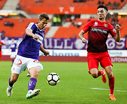 05.05.2018, Ernst Happel Stadion, Wien, AUT, 1. FBL, FK Austria Wien vs FC Flyeralarm Admira, 33. Runde, im Bild v.l. Florian Klein (FK Austria Wien), Marin Jakolis (FC Flyeralarm Admira) // during Austrian Football Bundesliga Match, 33rd Round, between FK Austria Vienna and FC Flyeralarm Admira at the Ernst Happel Stadion, Vienna, Austria on 2018/05/05. EXPA Pictures © 2018, PhotoCredit: EXPA/ Alexander Forst