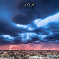 lighting strikes the ground over badlands eastern montana dry arm fort peck lake