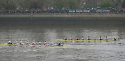 London, UK. 07 April 2019.  Oxford University Women's Boat Club (OUWBC) vs Cambridge University Women's Boat Club (CUWBC) Blue Crews.