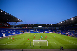 CARDIFF, WALES - Thursday, August 9, 2018: A general view during the UEFA Europa League Third Qualifying Round 1st Leg match between The New Saints FC and FC Midtjylland at Cardiff City Stadium. (Pic by David Rawcliffe/Propaganda)