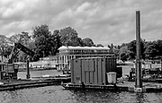 Henley On Thames. Oxfordshire/ Berkshire. United Kingdom. 26/17.05.2017. General View,of some of the equipment used to build the Henley Royal regatta site. River Thames. <br /> <br /> <br /> [Mandatory Credit Peter SPURRIER/Intersport Images]