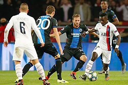 November 6, 2019, Paris, France: Club's Mats Rits and PSG's Idrissa Gueye fight for the ball during the match between French club Paris Saint-Germain Football Club and Belgian soccer team Club Brugge KV, Wednesday 06 November 2019 in Paris, France, on day four in Group A, in the first round of the UEFA Champions League. (Credit Image: © Bruno Fahy/Belga via ZUMA Press)