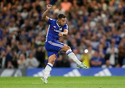 Eden Hazard of Chelsea scores a goal from the penalty spot to make it 1-0 - Rogan Thomson/JMP - 15/08/2016 - FOOTBALL - Stamford Bridge Stadium - London, England - Chelsea v West Ham United - Premier League Opening Weekend.