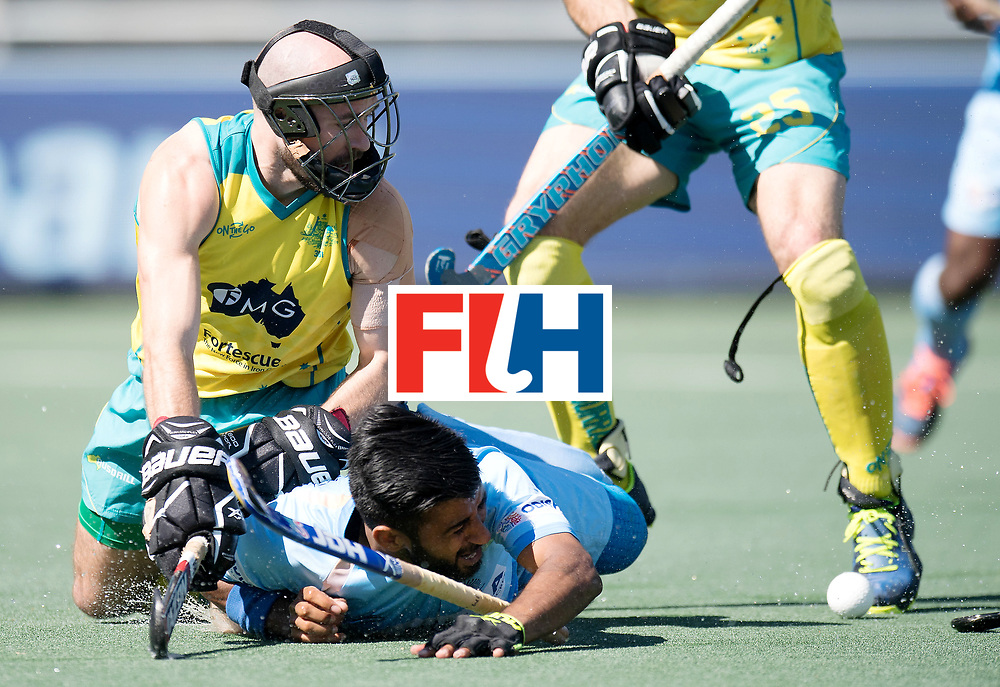 BREDA - Rabobank Hockey Champions Trophy<br /> Final Australia - India<br /> Photo: Manpreet Singh and Matthew Swann.<br /> COPYRIGHT WORLDSPORTPICS FRANK UIJLENBROEK