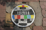 JINAN, CHINA - JUNE 01: (CHINA OUT) <br /> <br /> Manhole Cover Paintings <br /> <br /> A painting on the manhole cover at Shandong Jianzhu University on June 1, 2016 in Jinan, Shandong Province of China. Nearly a hundred of manhole covers were painted with cartoon characters and scenery at Shandong Jianzhu University.<br /> ©Exclusivepix Media