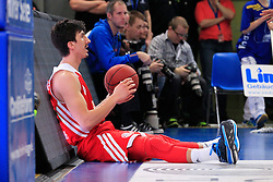 02.03.2014, ENERVIE Arena, Hagen, GER, Beko Basketball BL, Phoenix Hagen vs FC Bayern Muenchen, 24. Runde, im Bild Nihad Djedovic #14 (FC Bayern Muenchen) enttaeuscht am Boden // during the Beko Basketball Bundes league 24th round match between Phoenix Hagen and FC Bayern Munich at the ENERVIE Arena in Hagen, Germany on 2014/03/02. EXPA Pictures © 2014, PhotoCredit: EXPA/ Eibner-Pressefoto/ Schueler<br /> <br /> *****ATTENTION - OUT of GER*****