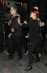 Singer Rita Ora, boyfriend Ricky Hilfiger, Pixie Geldof, Vas J Morgan and friends partying on a night out at Cirque le Soir nightclub in Carnaby St. London. UK. 09/10/2014<br />BYLINE MUST READ : GOTCHAIMAGES.COM<br /><br />Copyright by © Gotcha Images Ltd. All rights reserved.<br />Usage of this image is conditional upon the acceptance <br />of Gotcha Images Ltd, terms and conditions available at<br />www.gotchaimages.com