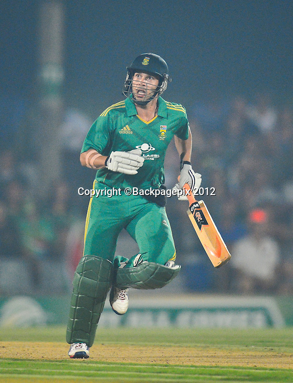 Quinton de Kock of South Africa during the 2012 KFC T20 International between South Africa and New Zealand at Buffalo Park in East London, South Africa on December 23, 2012 ©Barry Aldworth/BackpagePix