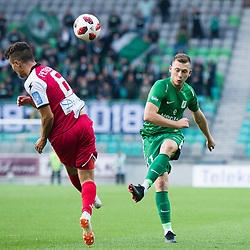 Dejan Petrovic, Matic Crnic during football match between NK Olimpija Ljubljana and Aluminij in Round #9 of Prva liga Telekom Slovenije 2018/19, on September 23, 2018 in Stozice Stadium, Ljubljana, Slovenia. Photo by Morgan Kristan
