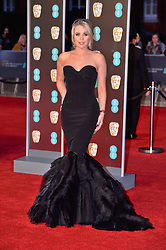 © Licensed to London News Pictures. 18/02/2018. London, UK. LYDIA BRIGHT arrives on the red carpet for the EE British Academy Film Awards 2018, held at the Royal Albert Hall. London, UK. Photo credit: Ray Tang/LNP