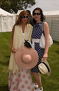 Isabella Spearman and Flora Astor, Cartier Style Et Luxe, Goodwood, 27 June 2004. SUPPLIED FOR ONE-TIME USE ONLY-DO NOT ARCHIVE. © Copyright Photograph by Dafydd Jones 66 Stockwell Park Rd. London SW9 0DA Tel 020 7733 0108 www.dafjones.com