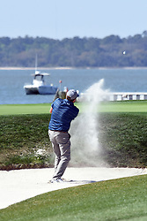April 12, 2018 - Hilton Head Island, South Carolina, U.S. - HILTON HEAD ISLAND, SC - APRIL 12: Steve Marino,  during the first round of the RBC Heritage on April 12, 2018 at Harbour Town Golf Links in Hilton Head Island, SC. (Photo by Theodore A. Wagner/Icon Sportswire) (Credit Image: © Theodore A. Wagner/Icon SMI via ZUMA Press)