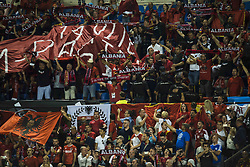 October 6, 2017 - Alicante, Spain - Supportts Albania during the qualifying match for the World Cup Russia 2018 between Spain and Albaniaat the Jose Rico Perez stadium in Alicante, Spain on October 6, 2017. (Credit Image: © Jose Breton/NurPhoto via ZUMA Press)