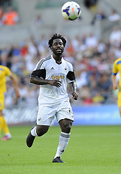 "Swansea City's Wilfried Bony  - Photo mandatory by-line: Joe Meredith/JMP - Tel: Mobile: 07966 386802 22/08/2013 - SPORT - FOOTBALL - Liberty Stadium - Swansea -  Swansea City V Petrolul Ploiesti - Europa League Play-Off EDITORIAL USE ONLY. No use with unauthorised audio, video, data, fixture lists, club/league logos or ""live"" services. Online in-match use limited to 45 images, no video emulation. No use in betting, games or single club/league/player publications"