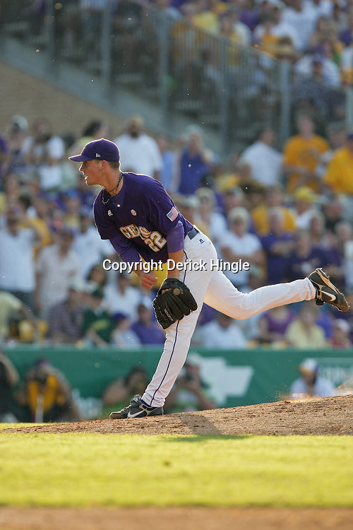 06 June 2009:  LSU pitcher, Matty Ott (22) in action during a 5-3 victory by the LSU Tigers over the Rice Owls in game two of the NCAA baseball College World Series, Super Regional played at Alex Box Stadium in Baton Rouge, Louisiana. The Tigers with the win advance to next week's College Baseball World Series in Omaha, Nebraska.