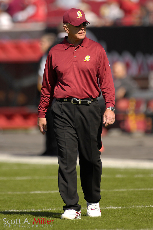 Nov. 19, 2006; Tampa, FL, USA; Washington Redskins coach Joe Gibbs on the during his team's 20-17 loss to the Tampa Bay Buccaneers at Raymond James Stadium. ...©2006 Scott A. Miller