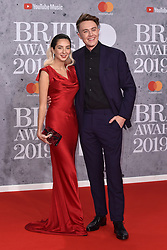 February 20, 2019 - London, United Kingdom of Great Britain and Northern Ireland - Roman Kemp arriving at The BRIT Awards 2019 at The O2 Arena on February 20, 2019 in London, England  (Credit Image: © Famous/Ace Pictures via ZUMA Press)