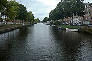 Canal and bridge. Amsterdam cityscape