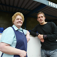 SPORTSWEEK:    Paul Bernard back in Scotland playing for St Johnstone FC...Paul is pictured with Aggie Moffat<br /><br />Picture by Graeme Hart.<br />Copyright Perthshire Picture Agency<br />Tel: 01738 623350  Mobile: 07990 594431
