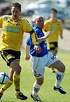 Fotball<br /> La Manga<br /> 08.03.2004<br /> Lillestøm v Halmstad 2-2<br /> Foto: Morten Olsen, Digitalsport<br /> <br /> Magnus Powell - LSK<br /> Magnus Svensson - Halmstad
