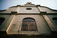 Fort Kochi, India -- February 12, 2018: The facade of St Francis Church.