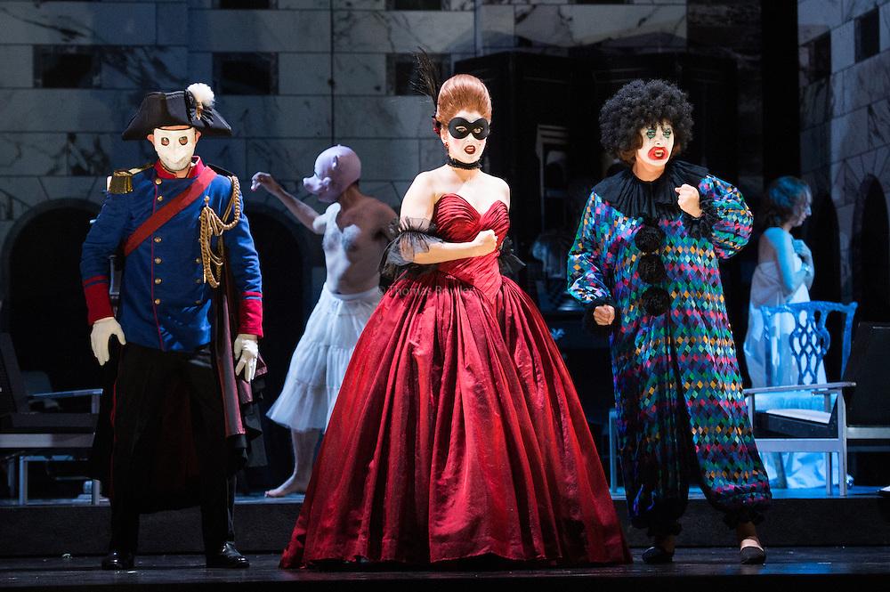 Glyndebourne Touring Opera present Don Giovanni by Wolfgang Amadeus Mozart<br /> <br /> <br /> Donna Anna -  Ana Maria Labin<br /> Don Ottavio  - Anthony Gregory<br /> Donna Elvira  - Magdalena Molendowska<br /> Masetto  - Božidar Smiljanić<br /> <br /> <br /> Conductor Pablo Gonz&aacute;lez (15, 22, 25, 27, 30 Oct; 4,8, 11, 15, 18, 22, 25 Nov)<br /> Ben Gernon (29 Nov; 2, 6, 9 Dec)<br /> Director Jonathan Kent<br /> Revival Director Lloyd Wood<br /> Designer Paul Brown<br /> Lighting Designer Mark Henderson<br /> <br /> The Glyndebourne Tour Orchestra<br /> The Glyndebourne Chorus<br /> <br /> Don Giovanni Duncan Rock<br /> Donna Anna Ana Maria Labin<br /> Don Ottavio Anthony Gregory<br /> Donna Elvira Magdalena Molendowska<br /> Leporello Brandon Cedel<br /> Il Commendatore Andrii Goniukov<br /> Zerlina Louise Alder<br /> Masetto Božidar Smiljanić