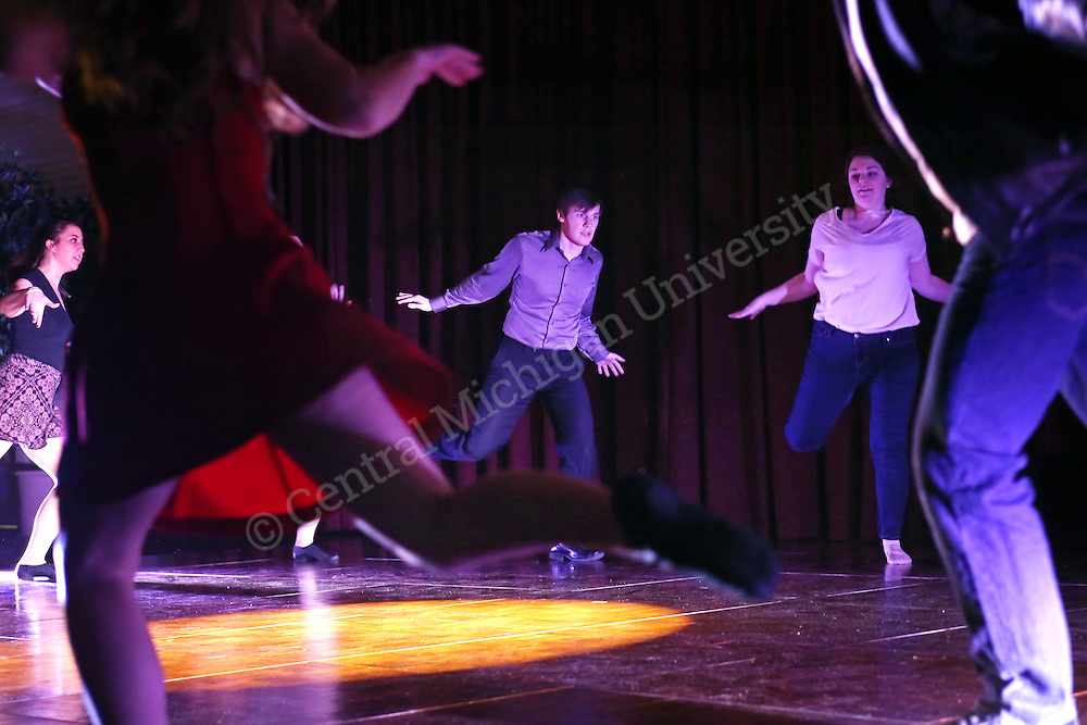 """Unity Ball and """"Humanity"""" performance. Students, faculty and staff who attended the annual Unity Ball enjoyed dinner, dancing and a viewing of an original theatrical dance production titled """"Humanity."""" The evening marked the end of CMU's Dr. Martin Luther King, Jr. Week photo by Emily Mesner."""