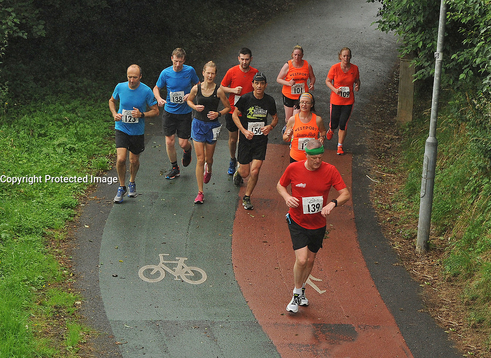 Time Check during Westport Leisure Park&rsquo;s &lsquo;Last Man Running&rsquo; which took place on the Westport greenway on saturday last<br /> Pic Conor McKeown