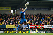 Nottingham Forest goalkeeper Jordan Smith (43)  during the EFL Sky Bet Championship match between Burton Albion and Nottingham Forest at the Pirelli Stadium, Burton upon Trent, England on 11 March 2017. Photo by Richard Holmes.