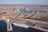 Aerial Photography of the Cruise Terminal at the Port of Baltimore